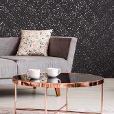 Livingwalls Vliestapete New Walls Tapete 50's Glam Konfetti schwarz, metallic, grau