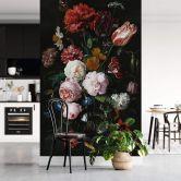 Fototapete Heem - Stillleben mit Blumen in einer Glasvase