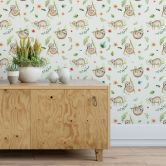 Patterned Wallpaper Kristina Kvilis – Sloth Life