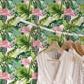 Patterned Wallpaper Kvilis – Tropicana Flamingo 01