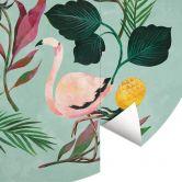 Fototapete Blanz - Summer Flamingo - Rund