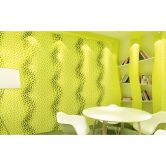 Livingwalls 3D Tapete Harmony in Motion by Mac Stopa grün, metallic, weiß