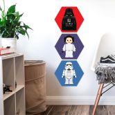Hexagon - Alu-Dibond Gomes - Darth Vader Spielzeug