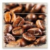 Tableau sur bois - Set Café (tryptique)