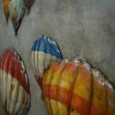 Metall Wandbild Heißluftballons 80cm x 80cm