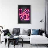 LED-Wandbild - Mielu - Love