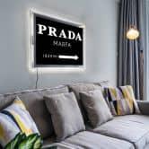 LED-Wandbild - Prada Marfa negativ