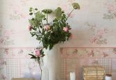 Livingwalls Djooz colore rosa antico, rosa chiaro, verde pallido