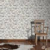 Livingwalls wallpaper brick effect beige