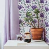 Mustertapete - Aquarell Blüten 02 - violett
