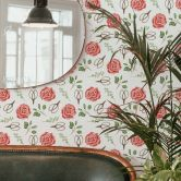 Mustertapete - Aquarell Blüten 04 - rot