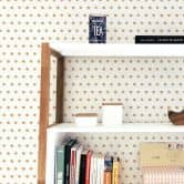 Patterned Wallpaper – Watercolour Dots 02 – brown