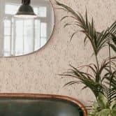 Mustertapete Graphic Flowers - Blumenfeld beige