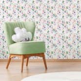 Patterned Wallpaper – Colourful Llamas
