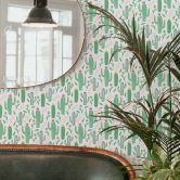 Patterned Wallpaper – Cactus Love