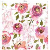 Mustertapete UN Designs - Aquarell Blumen C'est la fucking vie