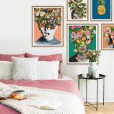 Poster Feldmann - Pineapple Blue Floral