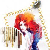 Poster Die Frau mit dem feuerroten Haar