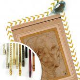 Poster da Vinci - Karikatur eines Männerkopfes im Profil