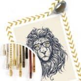 "Poster – ""Nerdy Lion"""