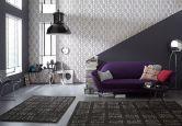 Papier peint intissé Bel habitat Classic Reloaded marron, métallique, noir