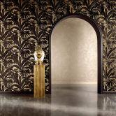 Versace wallpaper Mustertapete Tapete Giungla Creme, Metallic