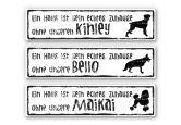 Hartschaum-Dekoschild + Wunschtext - Kein Haus ohne Hund