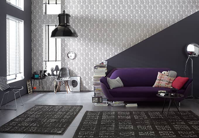 sch ner wohnen vliestapete classic reloaded braun metallic schwarz wall. Black Bedroom Furniture Sets. Home Design Ideas
