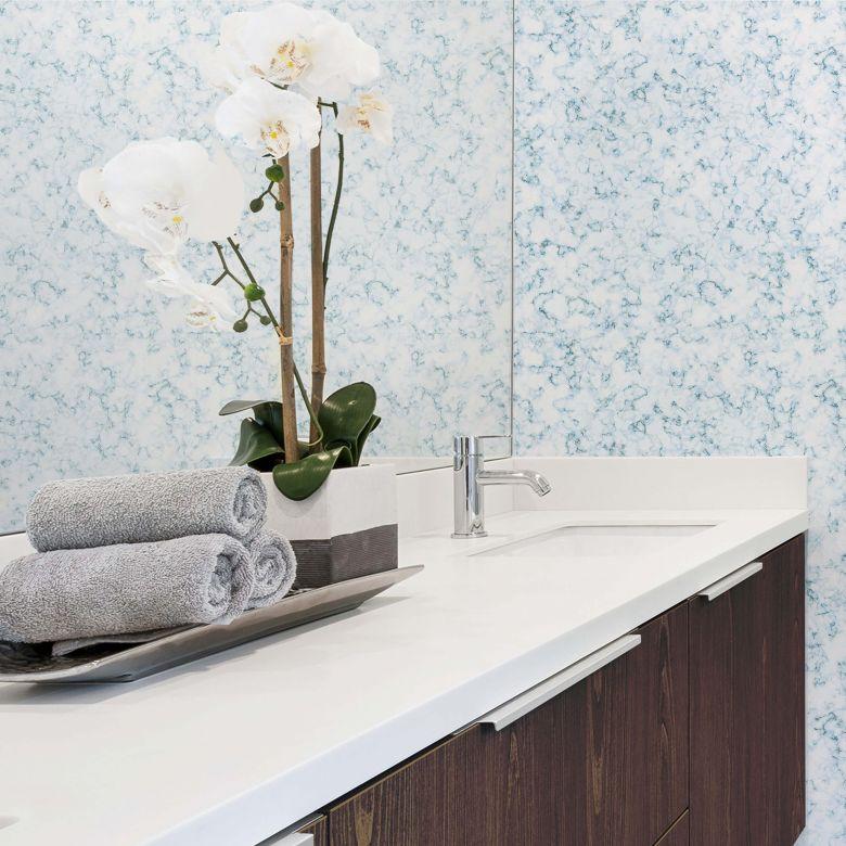 Mustertapete Marmor Blau Wall Art De