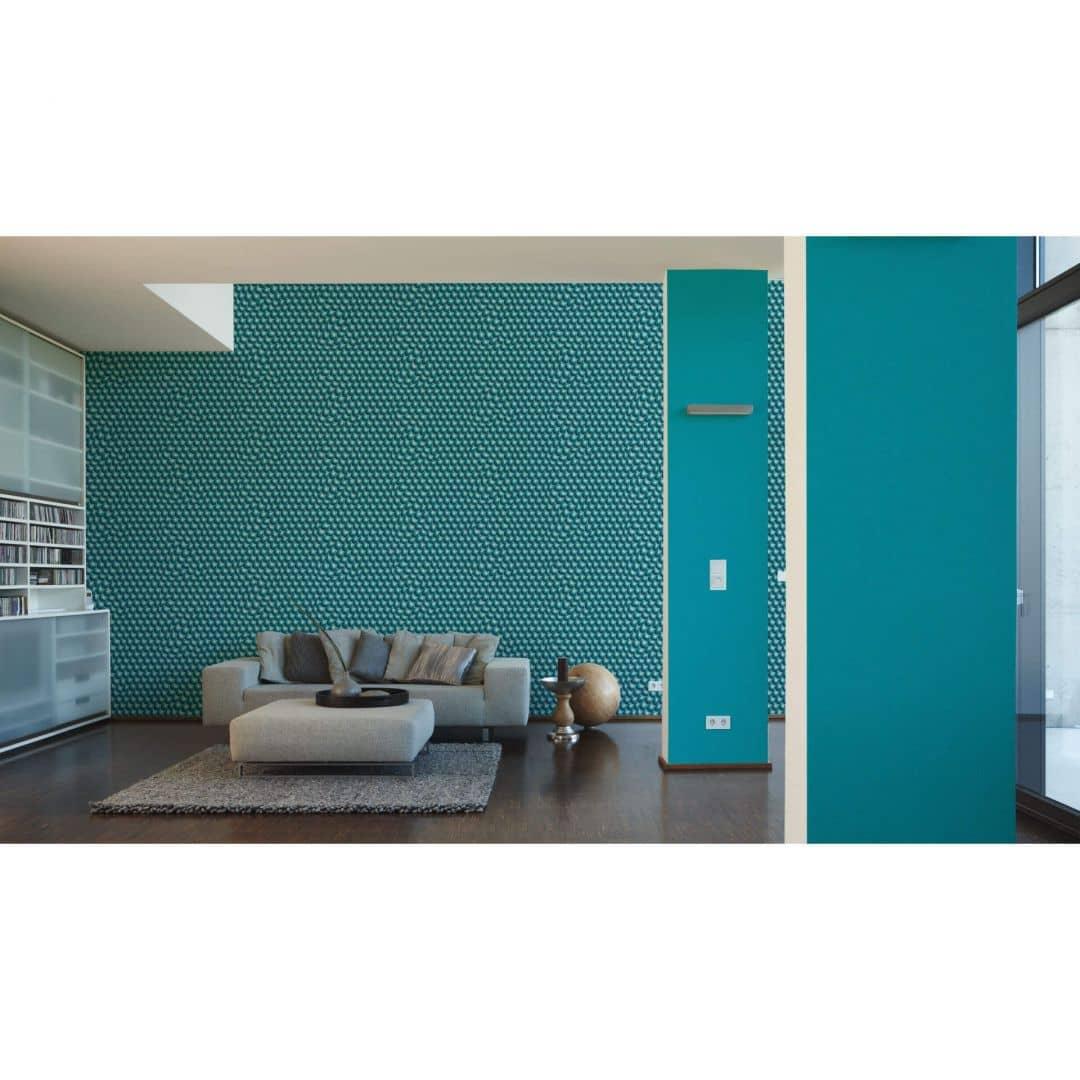 Livingwalls 3d tapete harmony in motion by mac stopa blau for Milchglasfolie obi