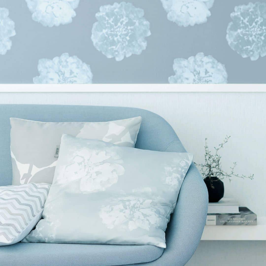 Wandfarbe Schoner Wohnen Polarweiss 9: Schöner Wohnen Vliestapete Blau 324541