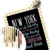 Poster New York Wörter