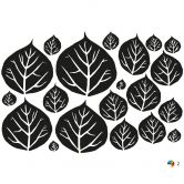Sticker mural - Arbre Bicolore