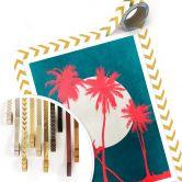 Poster Kubistika - Karibische Nacht unter Palmen