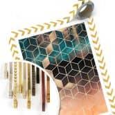 Poster Fredriksson - Goldgrüne Geometrie