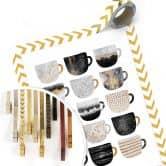 Poster Fredriksson - Kaffeetassen: Pretty Black & Gold