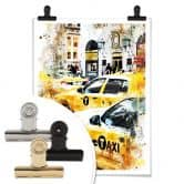 Poster Hugonnard - Watercolour: New York Cabs