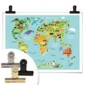 Poster Animal World Map