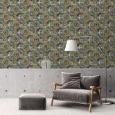 A.S. Création Vliestapete il Decoro Tapete mit fotorealistischen Zahnrädern grau, grün, metallic