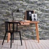A.S. Création Papiertapete il Decoro Tapete in Naturstein Optik grau, schwarz