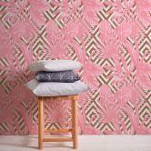 A.S. Création Vliestapete il Decoro Tapete geometrisch grafisch tropisch metallic, rosa, weiß