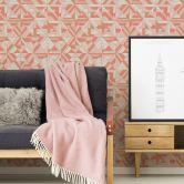 A.S. Création Vliestapete Pop Style geometrische Tapete Glitzereffekt, metallic, rot, orange