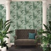 A.S. Création Vliestapete Greenery Tapete mit Palmenprint in Dschungel Optik grün, weiß