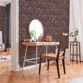 Livingwalls Papier peint intissé New Walls Finca Home motif carrelage rouge, marron, rose