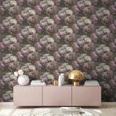 Livingwalls Vliestapete New Walls Tapete Romantic Dream mit romantischen Rosen weiß, lila, grau