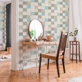 Livingwalls Vliestapete New Walls Tapete Finca Home in Fliesen Optik weiß, grau, blau