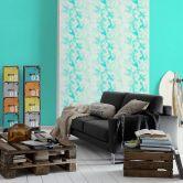 Esprit Vliestapete Cool Noon Tapete mit Blumen floral blau, grün