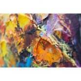 Acryl Gemälde handgemalt Herbstliche Allee 120x60 cm