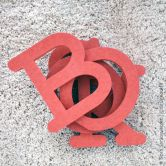 MDF-Letters Swiss 10 cm