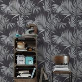 Michalsky Living Vliestapete Dream Again Tapete mit Palmenprint in Dschungel Optik schwarz, grau